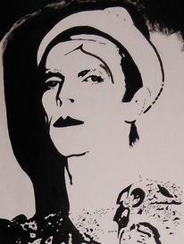 David bowie, Acrylmalerei, Malerei, Portrait
