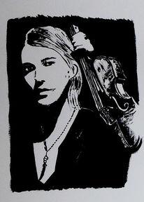 Portrait, David garrett, Acrylmalerei, Malerei