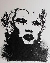 Portrait, Fantasie, Malerei, Acrylmalerei
