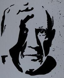 Portrait, Popart, Acrylmalerei, Malerei