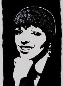 Acrylmalerei, Portrait, Musik, Schauspieler