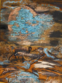 Patina, Mond, Collage, Meer