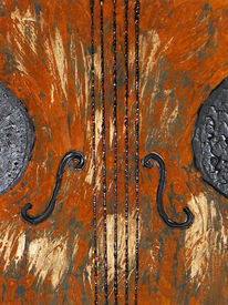 Musikinstrument, Rost, Collage, Musik