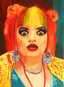 Acrylmalerei, Portrait, Popart, Nina hagen
