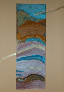 Rost, Patina, Collage, Mischtechnik