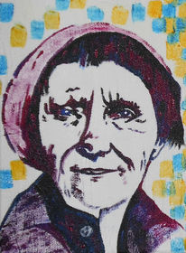 Portrait, Acrylmalerei, Schweden, Astrid lindgren