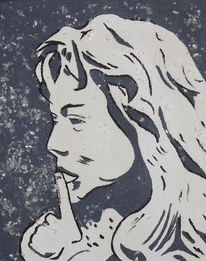 Menschen, Schweigen, Acrylmalerei, Malerei