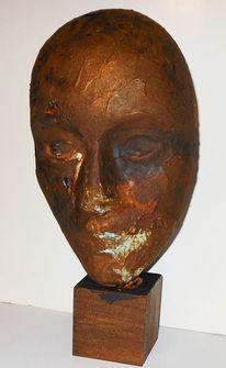 Rost, Patina, Maske, Skulptur