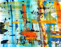 Bunt, Abstrakt, Gouachemalerei, Malerei
