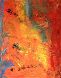 Usa, Roter sand, Abstrakt, Malerei