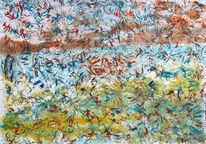 Abstrakt, Gouachemalerei, Vogel, Malerei