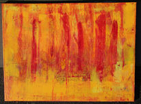 Abstrakt, Feuer, Malerei,