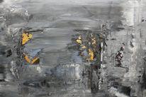 Grau, Abstrakt, Felsen, Gestein