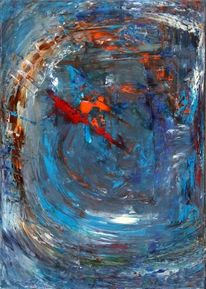 Blau, Abstrakt, Ölmalerei, Tiefe