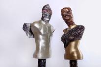 Plastik, Menschen, Skulptur, Bronze