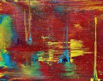 Weltall, Universum, Galaxie, Malerei