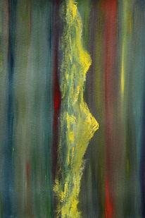 Aquarellmalerei, Berge, Gelb, Landschaft