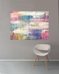 Modern art, Weiß, Sofa, Fröhlichkeit