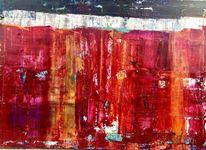 Abstrakt, Kunst aus münchen, Feuer, Rot