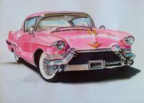 Classic cars, Oldtimer, Pink, Auto