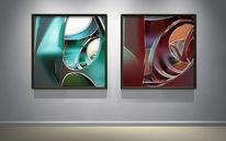 Modell, Raumtraum, Raum, Digitale kunst