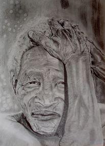 Gesicht mann hand, Zeichnungen