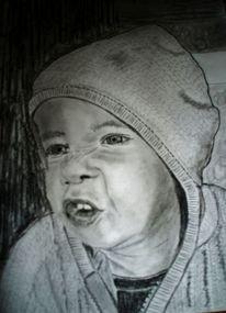 Portrait, Junge, Gesicht, Kaputze