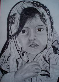 Kind tuch gesicht, Zeichnungen, Kind, Fremd
