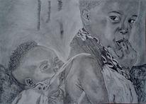 Kinder schwarz tragen, Zeichnungen, Portrait