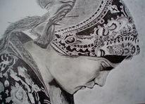 Frau, Kopf, Portrait, Tuch