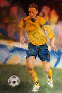Fußball, Fußballspielering, Sport, Malerei