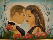 Menschen, Frau, Portrait, Acrylmalerei