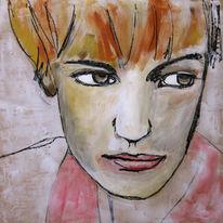 Frau, Malerei, Arbeit
