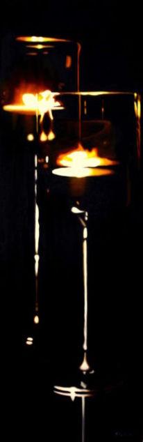 Kerzen, Stillleben, Kerzenlicht, Fotorealismus