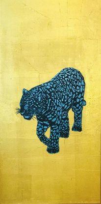 Tiere, Bunt, Wildkatze, Malerei
