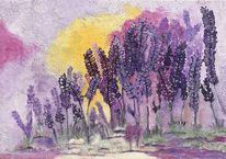 Natur, Pflanzen, Lila, Malerei