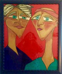 Körperwelten, Gesicht, Malerei, Sorge