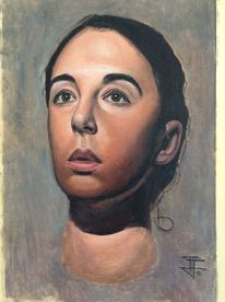 Portrait, Emotion, Ölfarben, Malerei