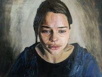 Gemälde, Traurigkeit, Trauer, Portrait