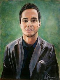 Ölmalerei, Menschen, Portrait, Selbstportrait