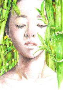 Polychromos bambus, Zeichnungen