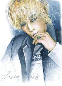 Polychromos, Zeichnungen, Portrait