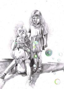 Kindheit, Blending, Zeichnung, Zeichnungen
