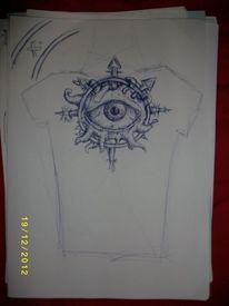 Tattoo, Augen, Qual, Zeichnungen
