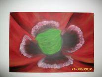 Blumen, Klatschmohn, Rot, Acrylmalerei