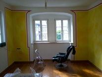 Wandgestaltung, Gestaltung, Lasurtechnik, Volltonfarbe