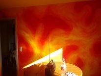 Gestaltung, Volltonfarbe, Warm, Wandgestaltung