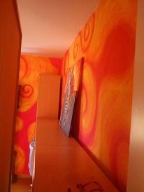 Volltonfarbe, Wandgestaltung, Warm, Gestaltung