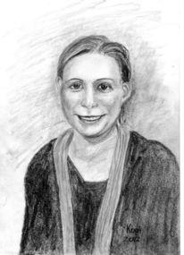 Freunde, Zeichnen, Portrait, Bleistiftzeichnung