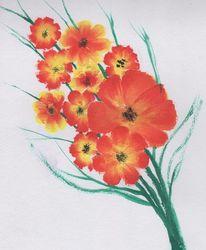 Blumenmalerei, Acrylmalerei, Frühling kommt, Blumen